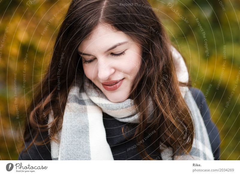 Human being Youth (Young adults) Young woman Beautiful Winter 18 - 30 years Face Adults Warmth Cold Autumn Healthy Natural Feminine Dream Contentment