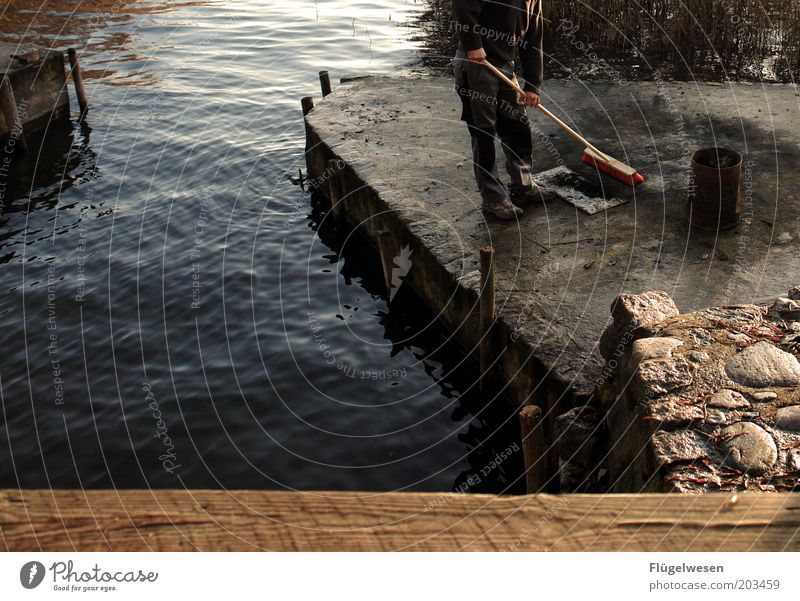 Water Work and employment Lake Fire Cleaning Jetty Fireplace Broom Keg Tidy up Sweep Eliminate