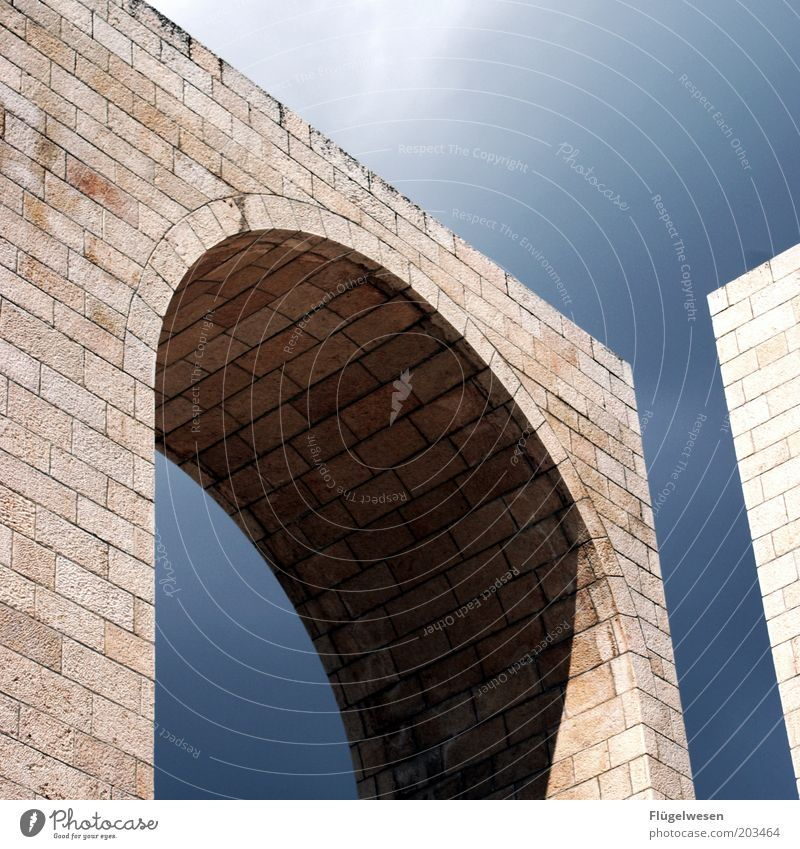 Gate of the month Vacation & Travel Tourism Stone Sharp-edged Advancement Architecture Seam Sky Shadow Open Archway Monument Art Colour photo Exterior shot
