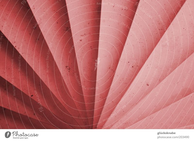 spiral staircase Stairs Stone Esthetic Uniqueness Red Symmetry Colour photo Interior shot Detail Abstract Deserted Bird's-eye view Colour Guide Pink Radial Line