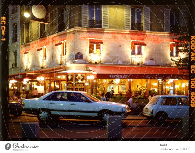 bistro Paris Summer night Evening Car