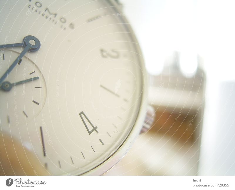 Clock 01 Wristwatch Time Glassworks Electrical equipment Technology Close-up NOMOS