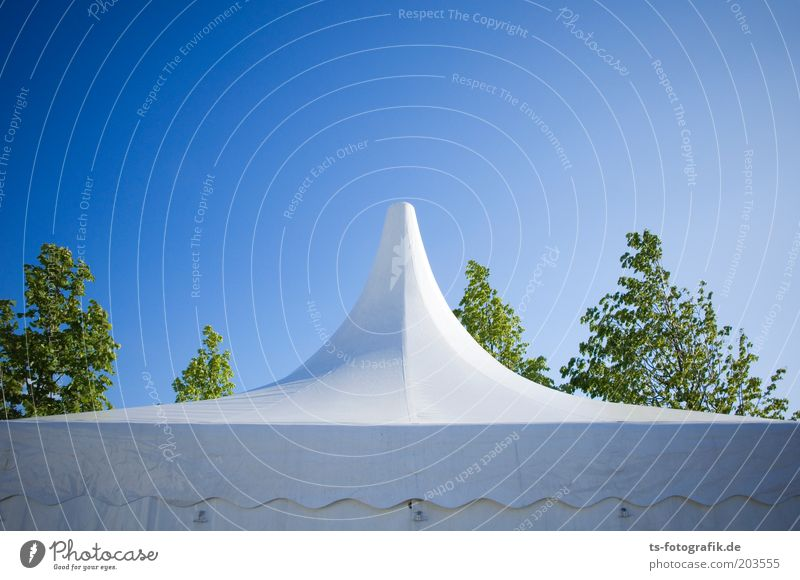 summer ski jump Lifestyle Garden Event Tent Tarpaulin Tent camp Roof Feasts & Celebrations Nature Sky Spring Summer Beautiful weather Warmth Tree Plastic Line