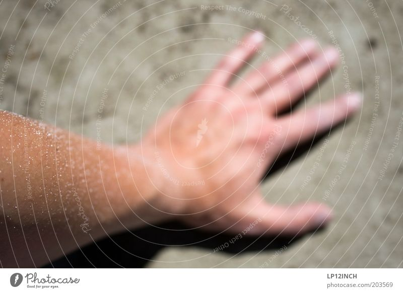 My left painter's hand Painter Masculine Skin Arm Hand Fingers 1 Human being White Dye Redecorate Painting (action, work) Concrete wall Exterior shot Day Blur