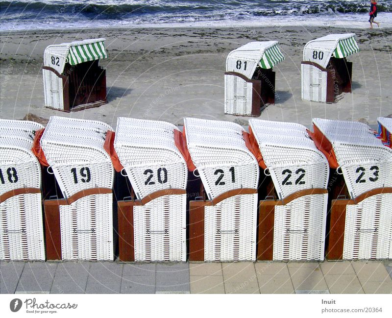 beach chairs Vacation & Travel Ocean Beach Basket Digits and numbers 18 19 20 21 23 Coast Baltic Sea 22 Sand