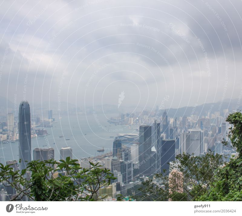 Hong Kong Vacation & Travel Tourism Far-off places Sightseeing City trip House (Residential Structure) Air Sky Clouds Storm clouds Climate Weather Bad weather