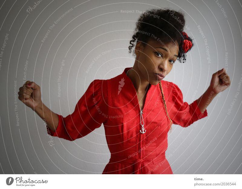 Human being Woman Beautiful Joy Adults Life Feminine Hair and hairstyles Creativity Dance Joie de vivre (Vitality) Observe Dress Trust Passion Watchfulness