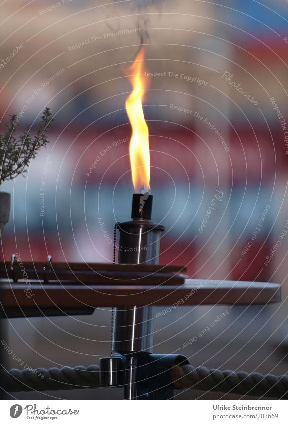 Yellow Warmth Metal Rope Fire Table Decoration Restaurant Illuminate Burn Cozy Flame Gastronomy Inn Flare Torch