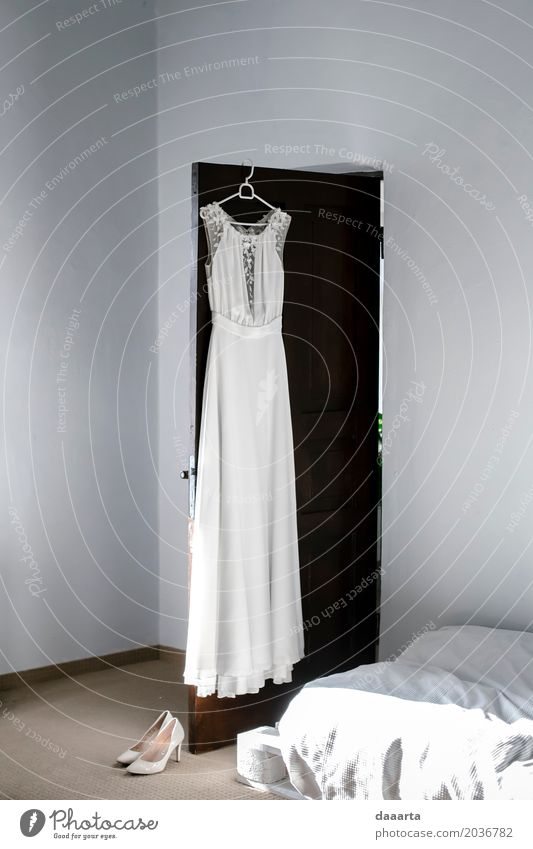 wedding dress morning Lifestyle Elegant Style Design Joy Harmonious Leisure and hobbies Trip Adventure Freedom Living or residing Flat (apartment) Event