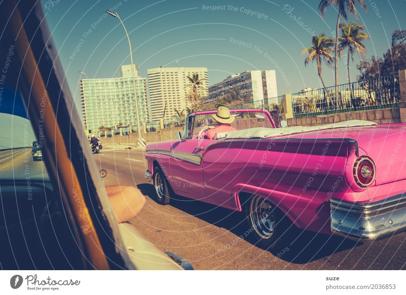 Vacation & Travel Old Summer Town Street Lifestyle Style Exceptional Pink Design Trip Transport Car Retro Fantastic Cool (slang)