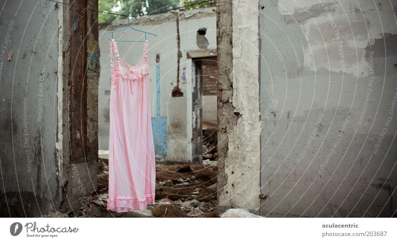 Beautiful Life Feminine Wall (building) Style Gray Wall (barrier) Pink Door Poverty Elegant Authentic Dress Construction site Asia Living or residing