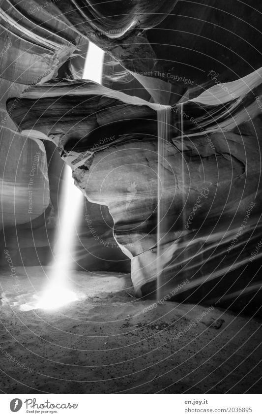 unstoppable Vacation & Travel Nature Landscape Elements Sand Sunlight Rock Canyon Antelope Canyon Illuminate Exceptional Power Hope Belief Grief Death Bizarre