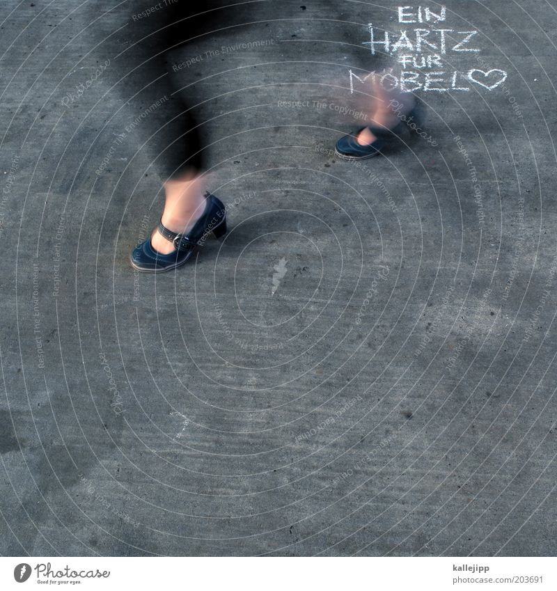 Human being Feminine Graffiti Legs Feet Footwear Heart Going Walking Fashion Laws and Regulations Design Lifestyle Motion blur Sign Furniture