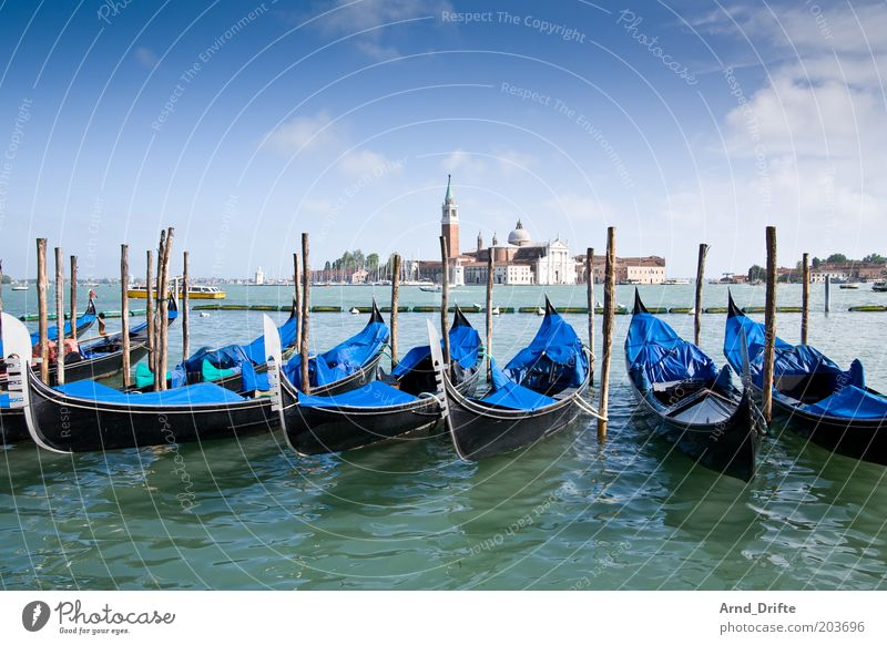 Water Beautiful Sky Blue Far-off places Building Watercraft Italy Moody Art Weather Lifestyle Tourism River Transience