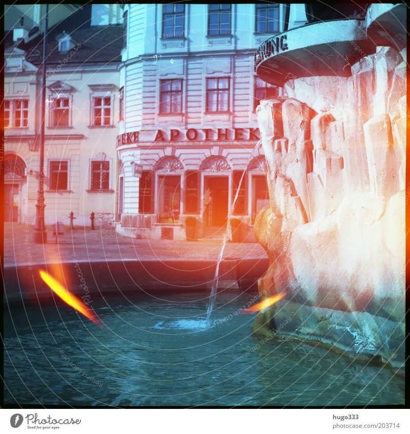 spirits of light City trip Art Water Vienna freyung Austria Town Capital city Old town House (Residential Structure) Marketplace Manmade structures Fountain