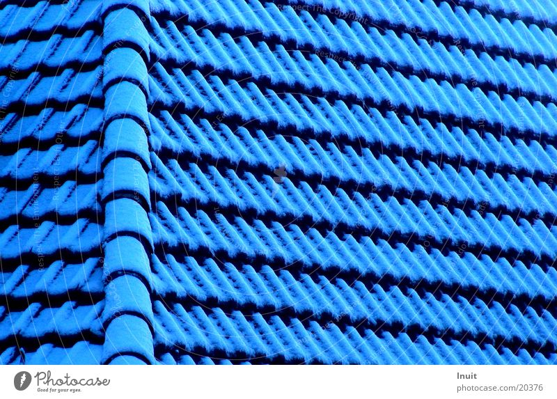 roof Roofing tile House (Residential Structure) Architecture Blue Snow Detail Structures and shapes