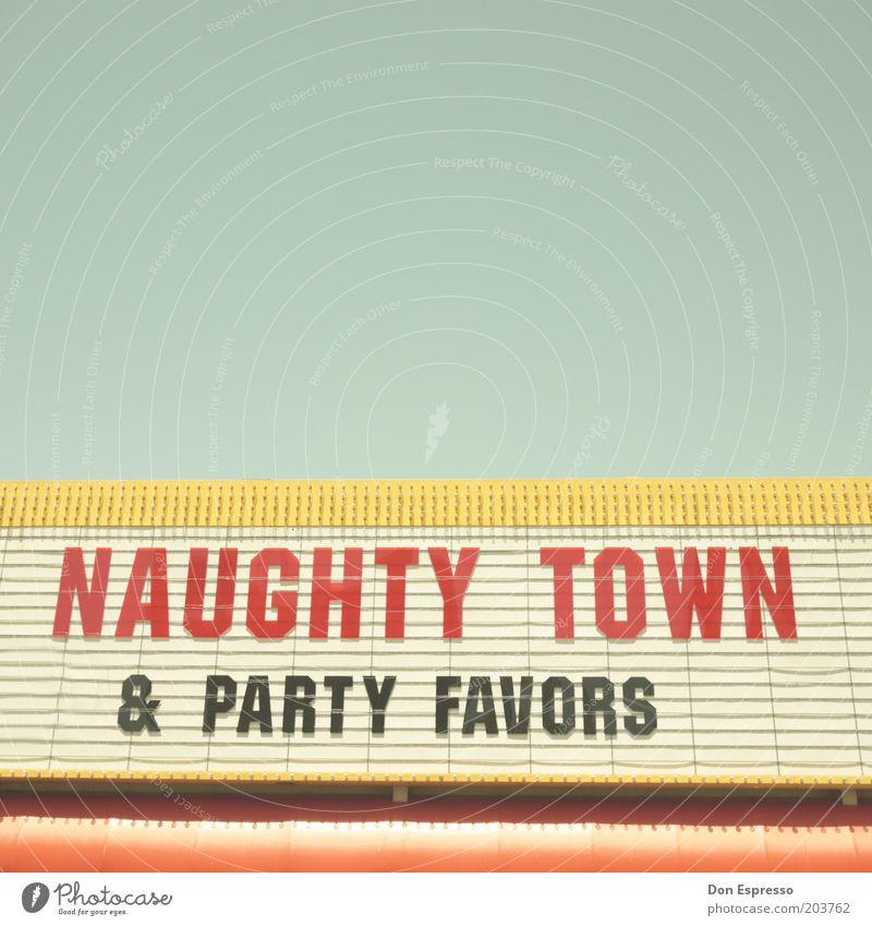 NAUGHTY TOWN Style Design Decoration Sign Characters Signs and labeling Trashy Town Advertising Display Letters (alphabet) Party Billboard Cinema Logo