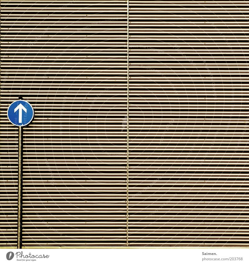corrugated sheet to heaven Facade Transport Road sign Gray Design Whimsical Infinity Signs and labeling Line Metal Arrow Cladding Direction Trend-setting