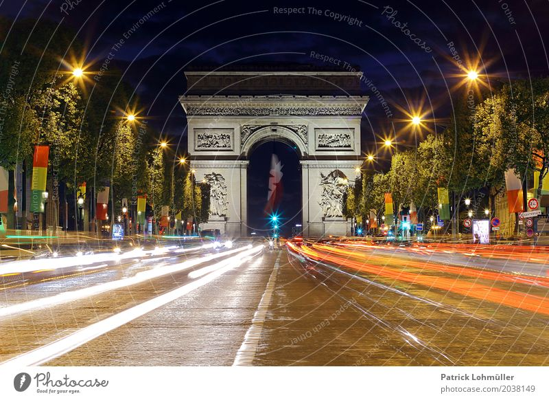 Avenue des Champs-Élysées Paris Vacation & Travel Tourism Sightseeing City trip Closing time Architecture Environment Night sky Tree France Europe Capital city