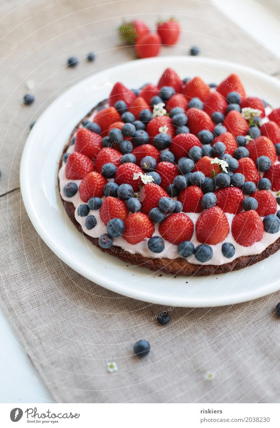summer tastes like this iv Food Fruit Cake Dessert To have a coffee Happiness Fresh Beautiful Delicious Juicy Sweet To enjoy strawberry cake Colour photo
