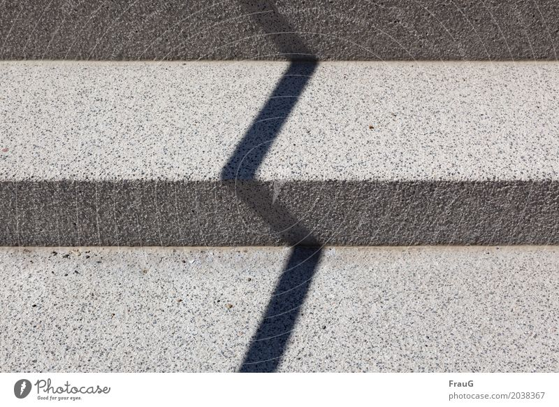 zigzag Stairs Lanes & trails Concrete Line Sharp-edged Shadow Beautiful weather Darken Bright Contrast Exterior shot Day Downward