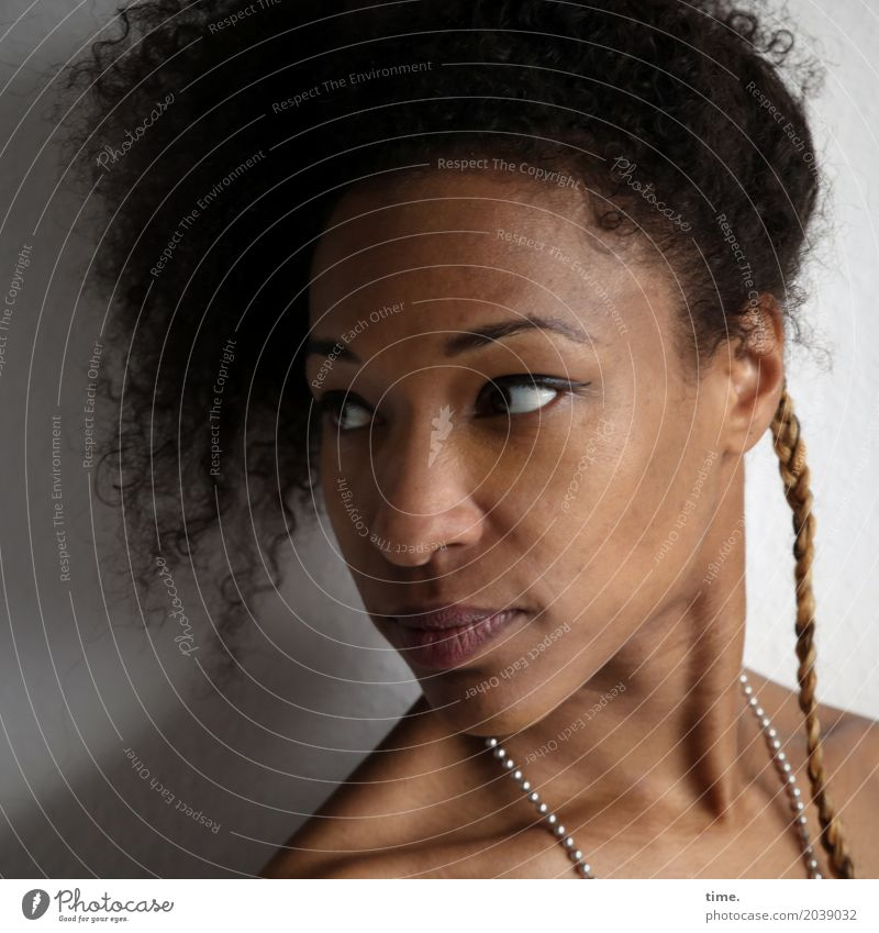 Human being Woman Beautiful Adults Life Movement Feminine Exceptional Hair and hairstyles Moody Esthetic Perspective Observe Curiosity Discover Surprise