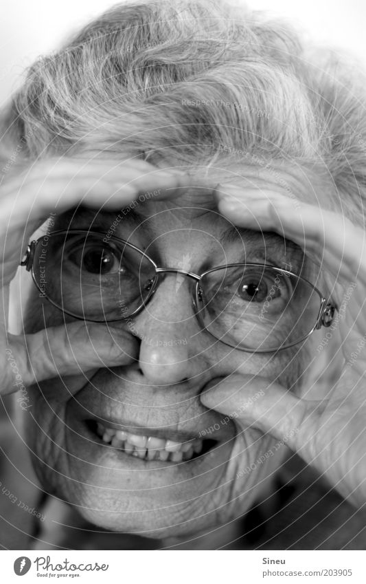 Human being Woman Old Beautiful Joy Face Eyes Senior citizen Happy Funny Moody Happiness Crazy Eyeglasses Cute Teeth