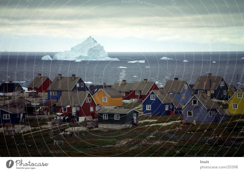 Only a tenth Greenland Wooden house Iceberg The Arctic Far-off places