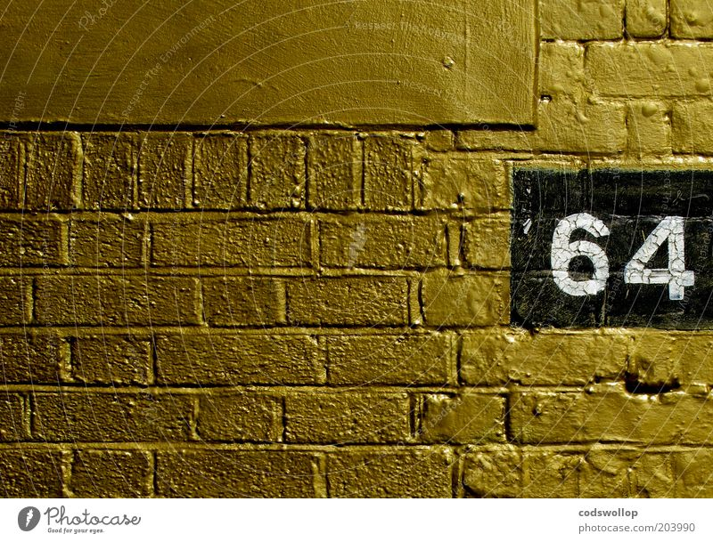 When I'm... Manmade structures Wall (barrier) Wall (building) Brick Digits and numbers Gold Black White Luxury 64 High-grade steel House number Jubilee