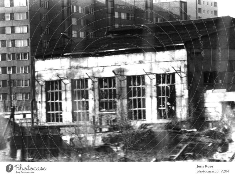 factory hall Factory Architecture Black & white photo Old Warehouse Industrial Photography