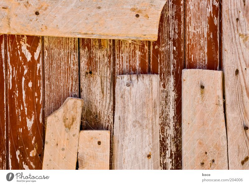 boards Wood Old Broken Brown Wooden board Colour photo Detail Deserted Day Deep depth of field Wooden wall Scrap lumber Remainder Repair Wooden fence