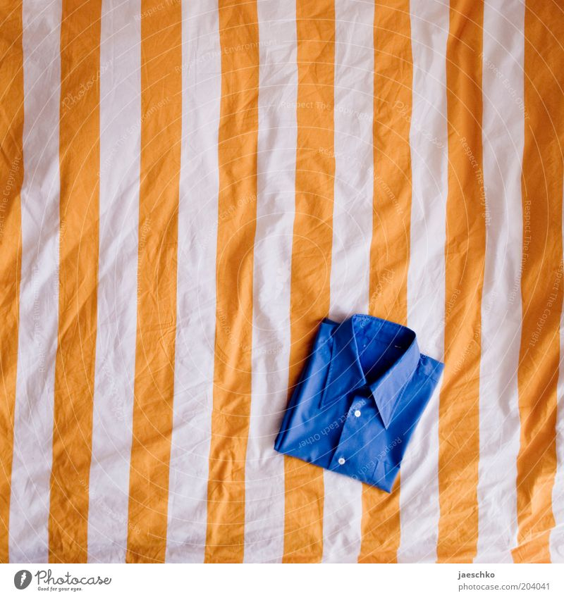 complementary folding Clothing Shirt Blue Yellow Orderliness Cleanliness Folded Bedclothes Duvet Striped Fashion Multicoloured Shirt off your back Wrinkles