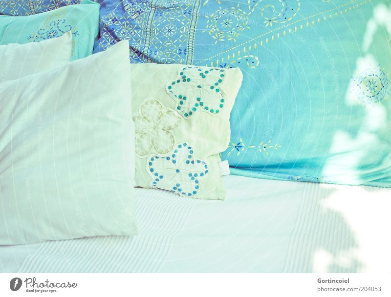 White Relaxation Interior design Lifestyle Decoration Soft Bed Delicate Sofa Turquoise Well-being Seating Smooth Cozy Easy Textiles