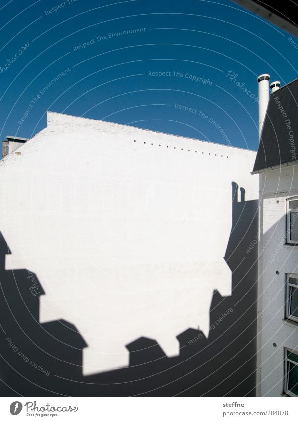 City House (Residential Structure) Wall (building) Wall (barrier) Facade Shadow play Copenhagen Interior courtyard Fire wall Well of light Ghost town