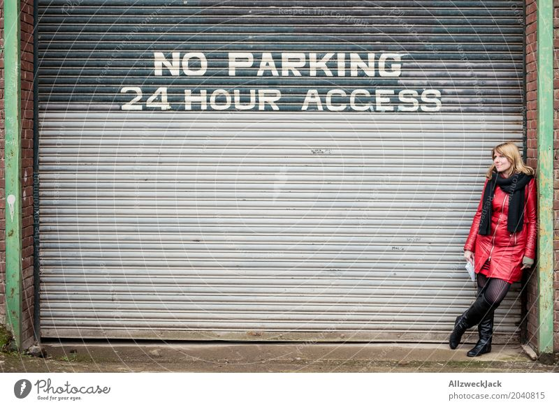 No Parking Feminine Young woman Youth (Young adults) Woman Adults 1 Human being 18 - 30 years 30 - 45 years Town Downtown Building Wall (barrier)