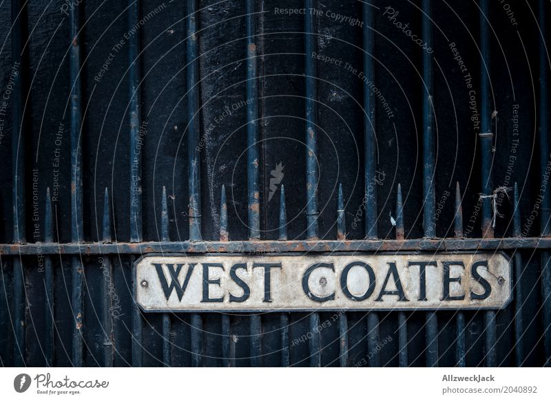 West Coate's baby! Edinburgh Scotland Gate Wall (barrier) Wall (building) Characters Signs and labeling Threat Dirty Dark Thorny Street sign West Coast USA
