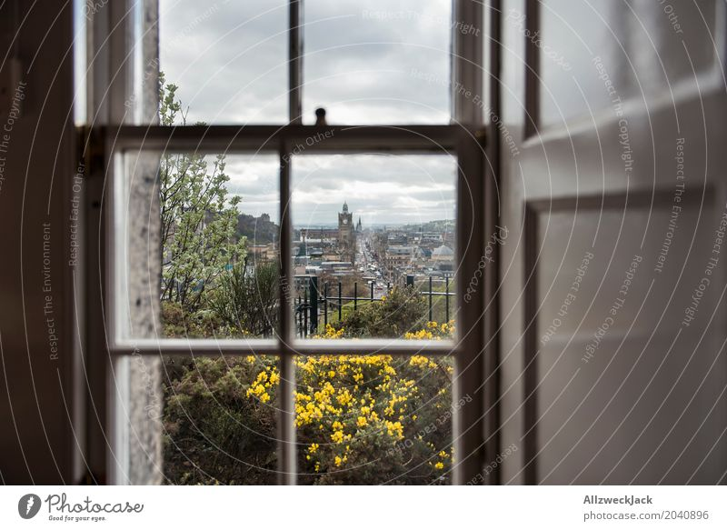 Edinburgh Window View Relaxation Calm Vacation & Travel Travel photography Trip Far-off places Nature Town View from a window Vantage point Hope Longing