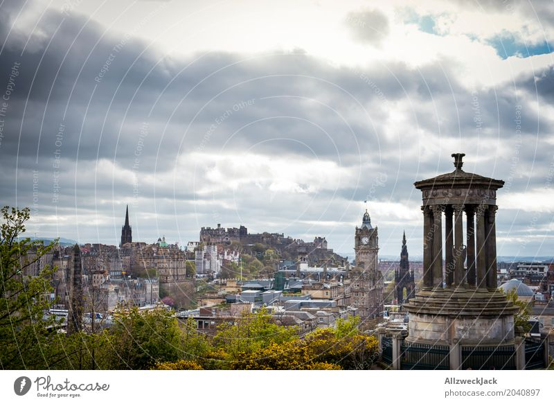 Edinburgh Scotland View Relaxation Calm Vacation & Travel Travel photography Trip Far-off places Nature Town Vantage point Panorama (View) Colour photo Clouds
