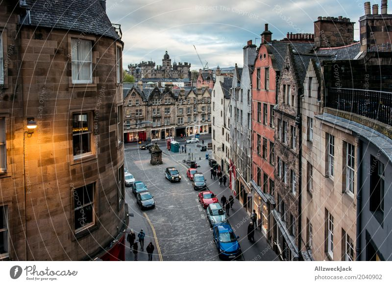Victoria Street Evening Vacation & Travel Tourism City trip Edinburgh Scotland Capital city Downtown Old town Pedestrian precinct Populated