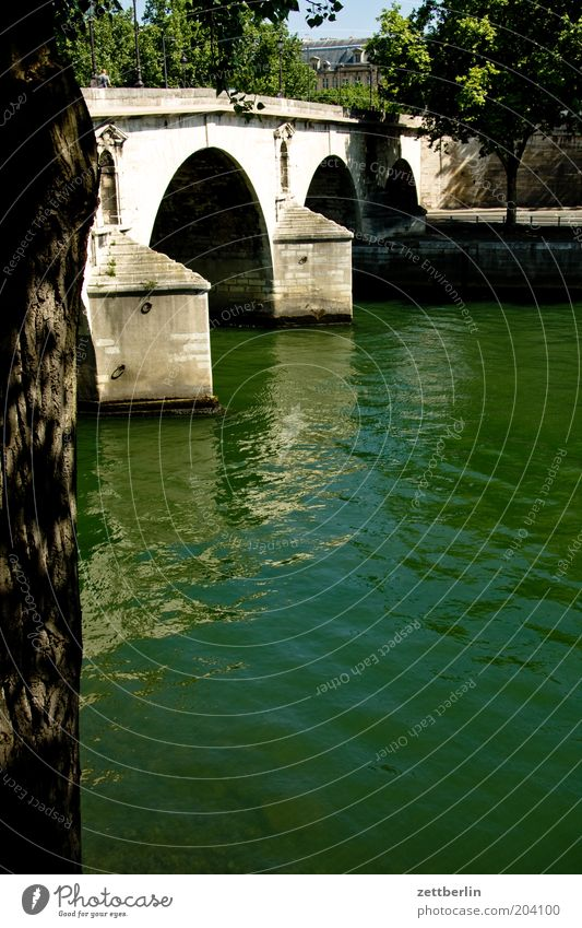 Water Vacation & Travel Summer Bridge River Travel photography Paris France Capital city Flow Seine
