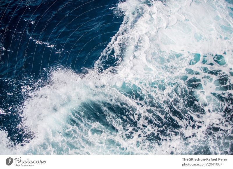 Nature Blue Water White Cold Waves Wet Turquoise Navigation Inject White crest Force of nature Sea water
