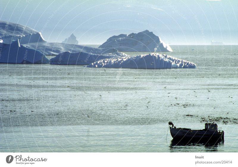 Iceberg 01 Greenland Ocean Watercraft Back-light Cold