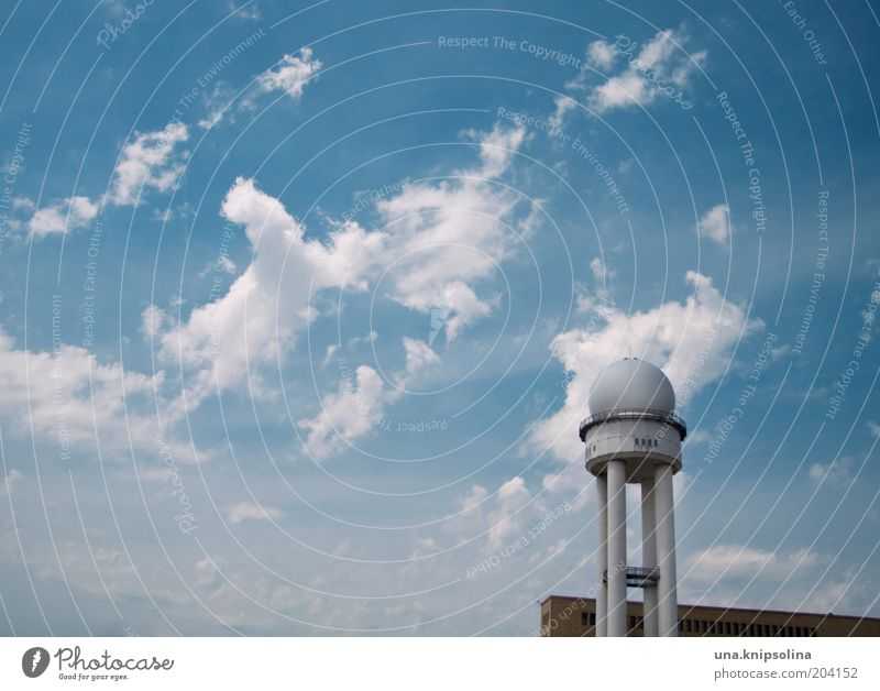 Sky Clouds Berlin Architecture Beautiful weather Aviation Round Airport Airfield