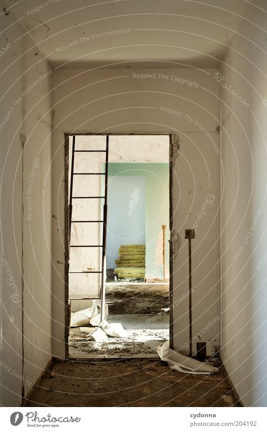 Old Calm Life Room Flat (apartment) Door Change Construction site Living or residing Transience Moving (to change residence) Decline Past Ladder Redecorate