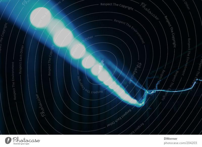 Blue Lamp Line Lighting Stripe Illuminate Hang Hose Point of light Fairy lights Paper chain Tracer path Beam of light Bright spot