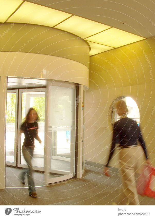Architecture Entrance Way out Revolving door