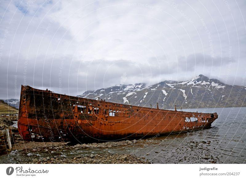 Sky Nature Old Ocean Clouds Loneliness Dark Mountain Landscape Environment Coast Moody Watercraft Broken Natural Threat