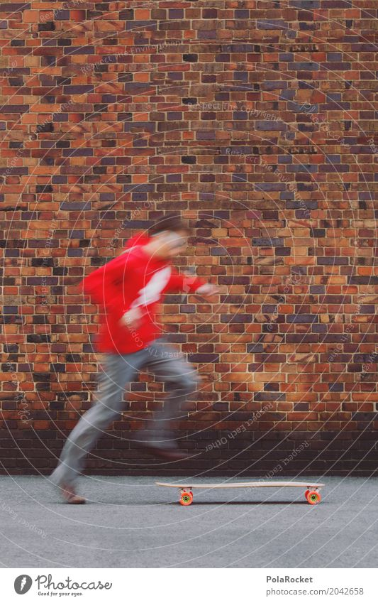 #AS# Hop On I Art Esthetic Skateboard Skateboarding Inline skating Skate park Skater circuit Skate arena Skate store Skateboard clothing Longboard Red