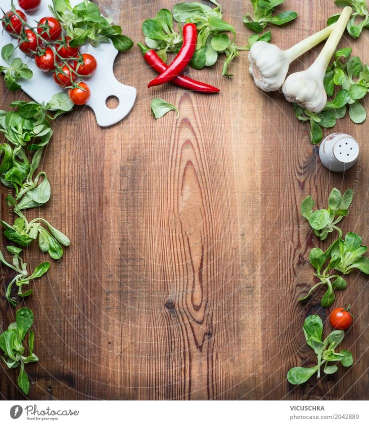 Food photograph Life Eating Background picture Healthy Style Food Design Copy Space Nutrition Table Herbs and spices Kitchen Vegetable Organic produce Crockery