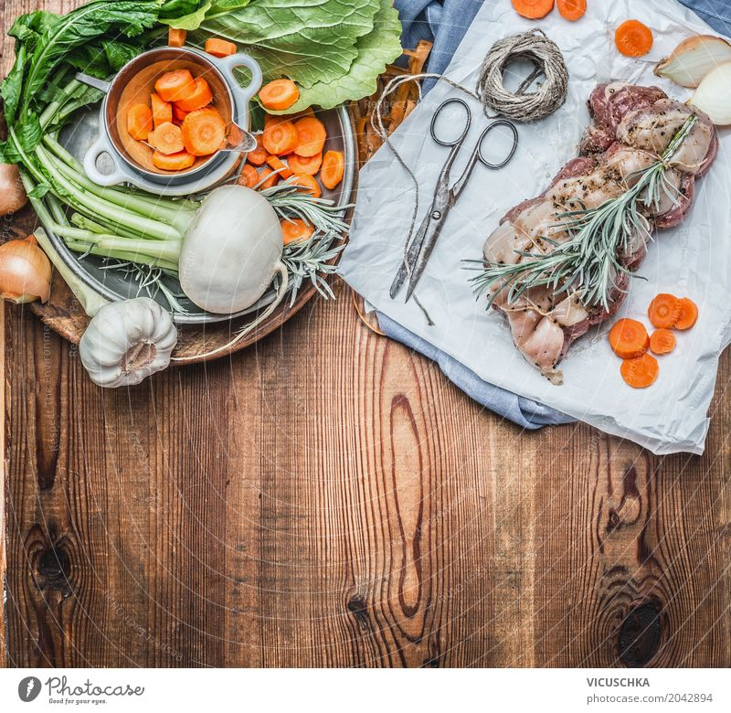 Food photograph Eating Style Food Design Nutrition Table Rope Herbs and spices Kitchen Vegetable Organic produce Restaurant Crockery Plate Meat